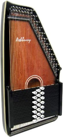 Ashbury 21 Bar Deluxe Autoharp - Click Image to Close