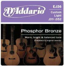 D'Addario EJ26 Custom Light Acoustic Guitar String Set