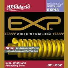 D'Addario EXP13 Custom Light Acoustic Guitar String Set
